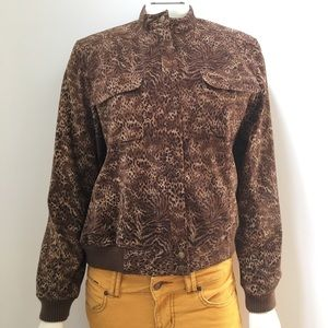 NORTON MCNAUGHTON Petites Animal Print Bomber